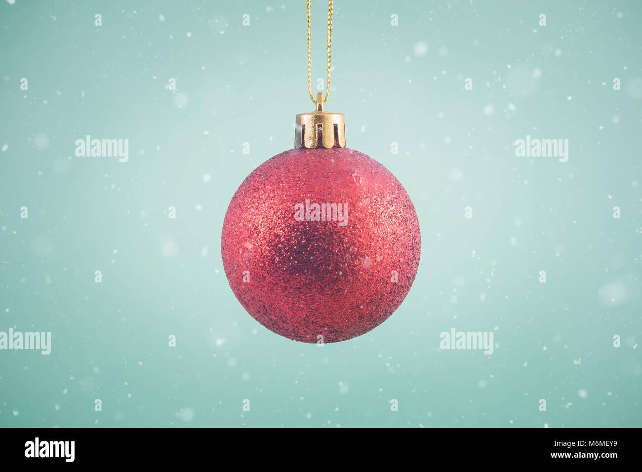 Christmas ornament ball reflection stock photos & christmas
