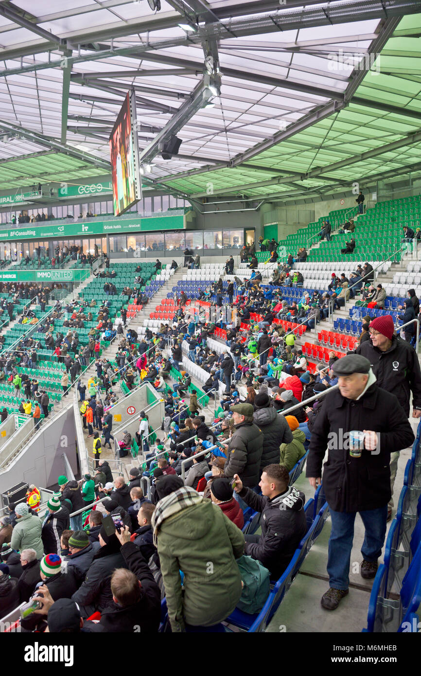People Attending A Game Of Austrian Bundesliga At Allianz Stadion In Stock Photo Alamy
