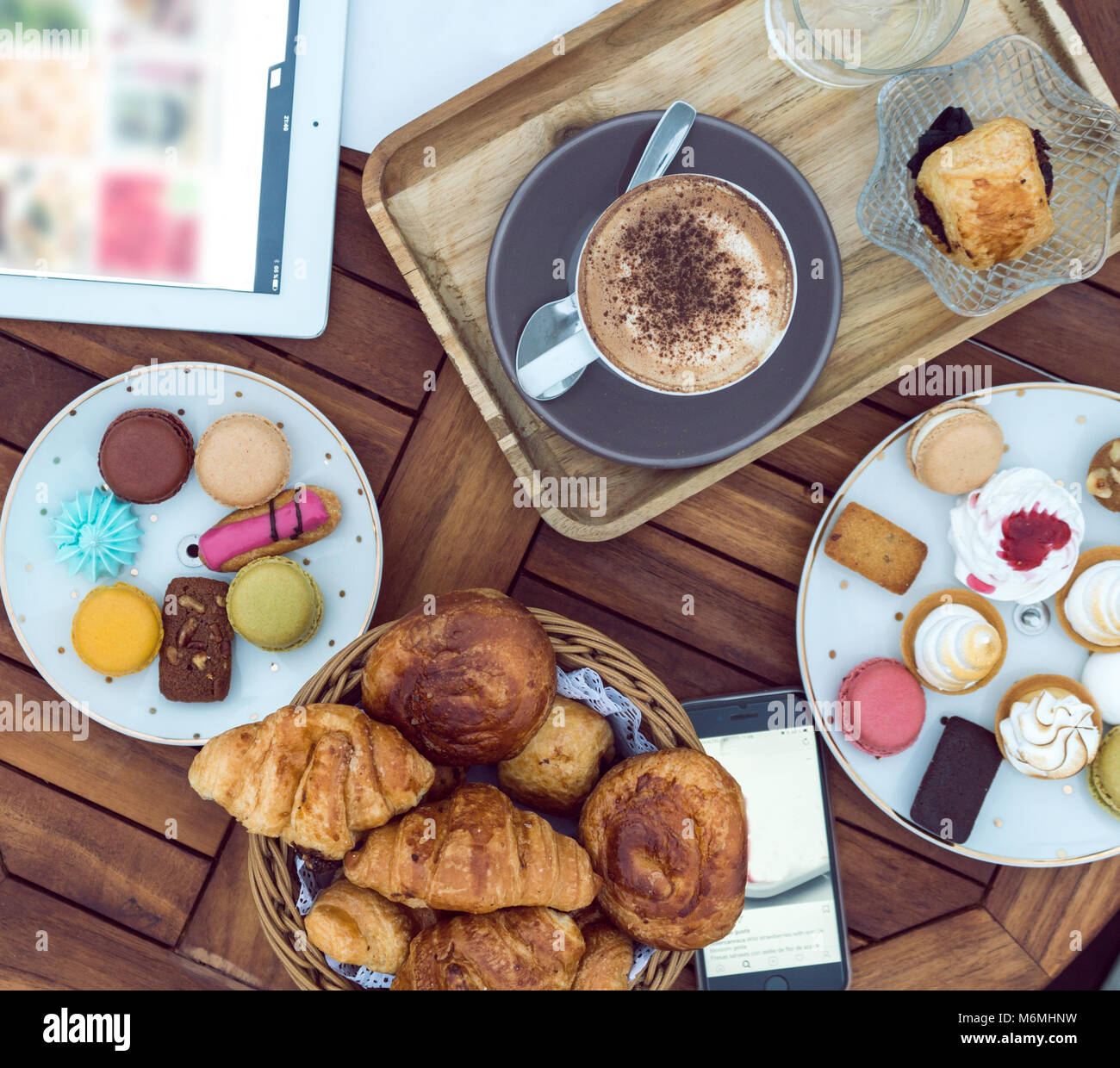 coffee and pastry - Stock Image