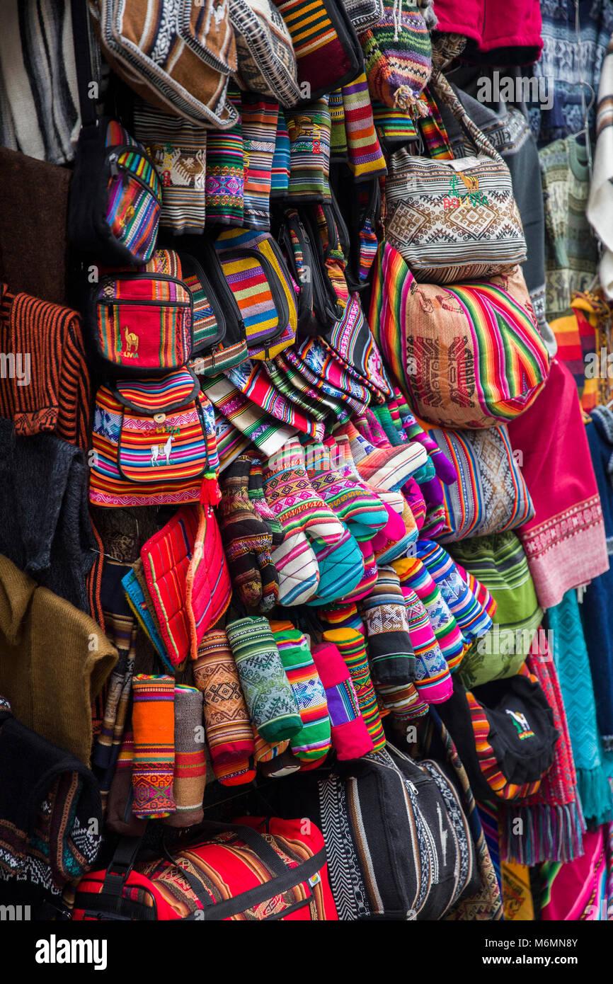 La Paz Bolivia January 10 2018 Traditional Handcrafts On The