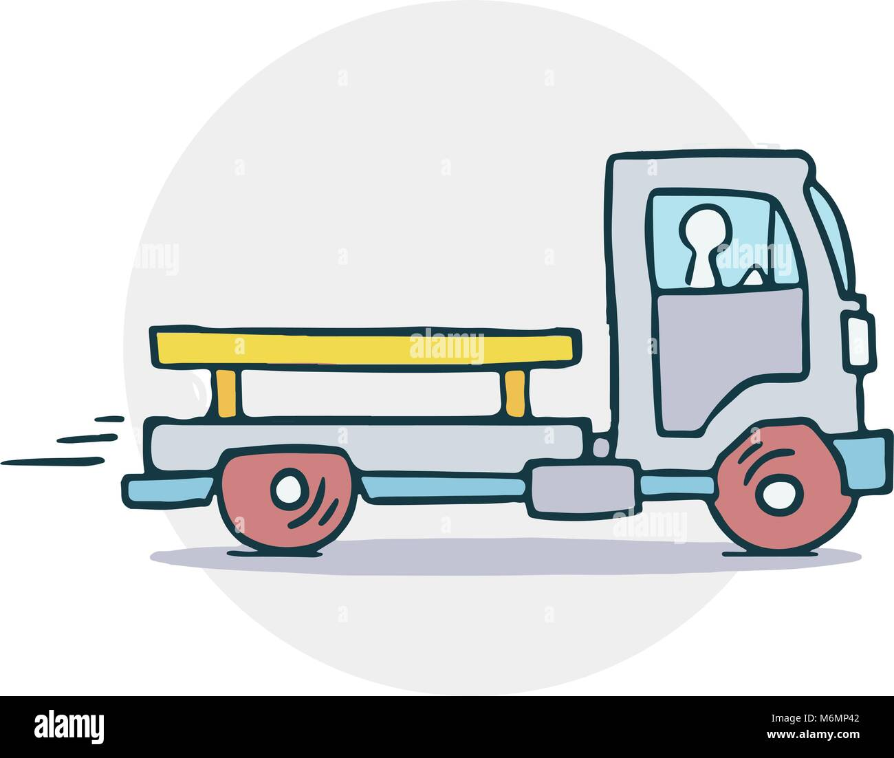 Truck with trailer illustration - Stock Vector