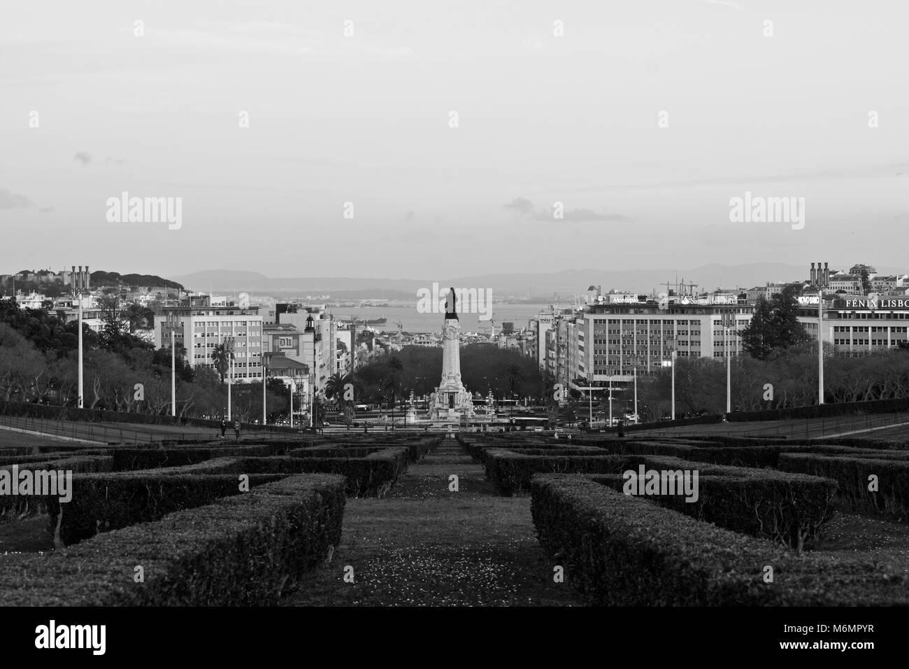 Eduardo VII park in Lisbon Portugal Parque Eduardo Sétimo Lisboa - Stock Image