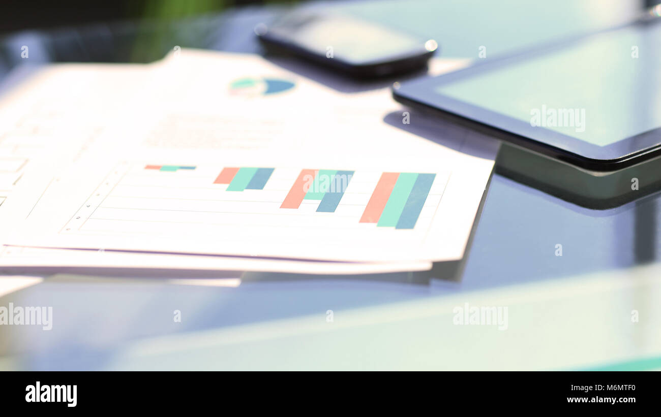 financial and business color charts - Stock Image