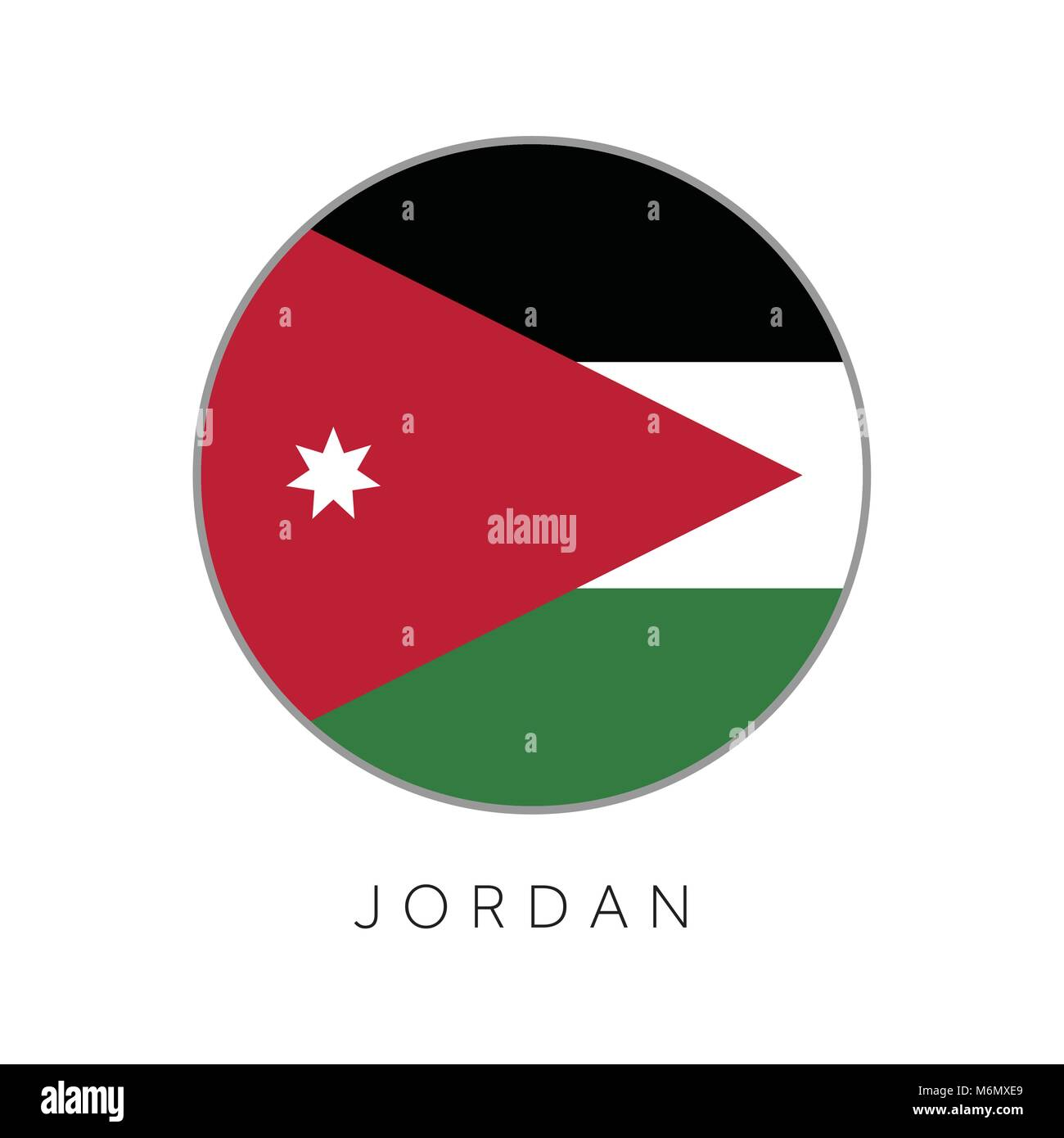 Country jordan stock photos country jordan stock images alamy jordan flag round circle vector icon stock image biocorpaavc Gallery