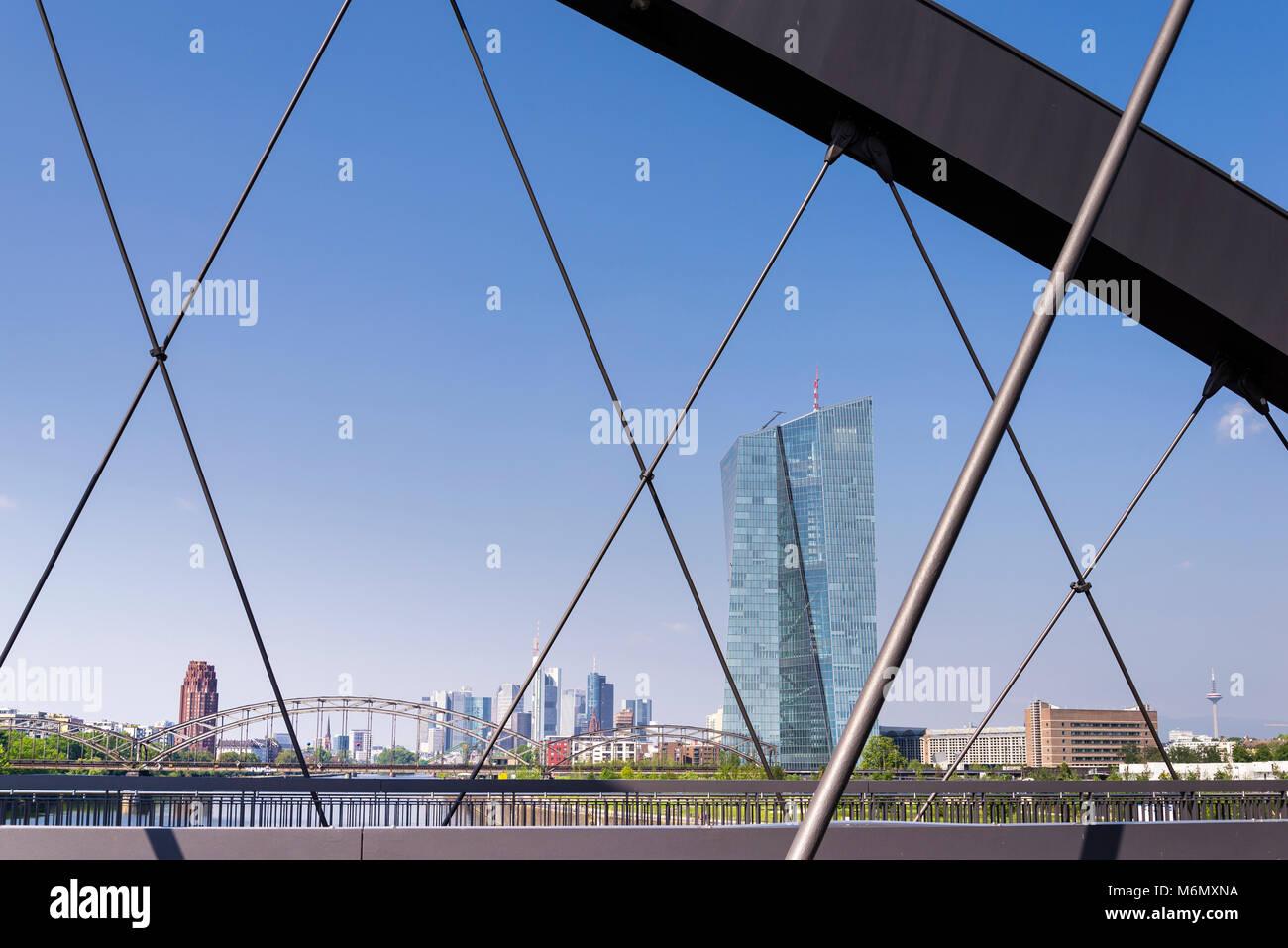 EZB, Europäische Zentralbank, Frankfurt, Hessen, Deutschland, Europa Stock Photo