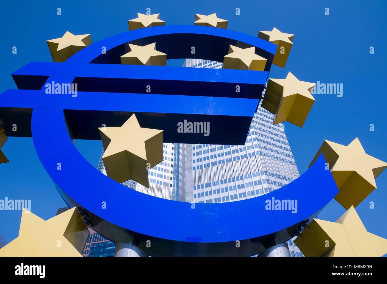 Alte EZB, Europäische Zentralbank, Frankfurt, Hessen, Deutschland, Europa - Stock Image