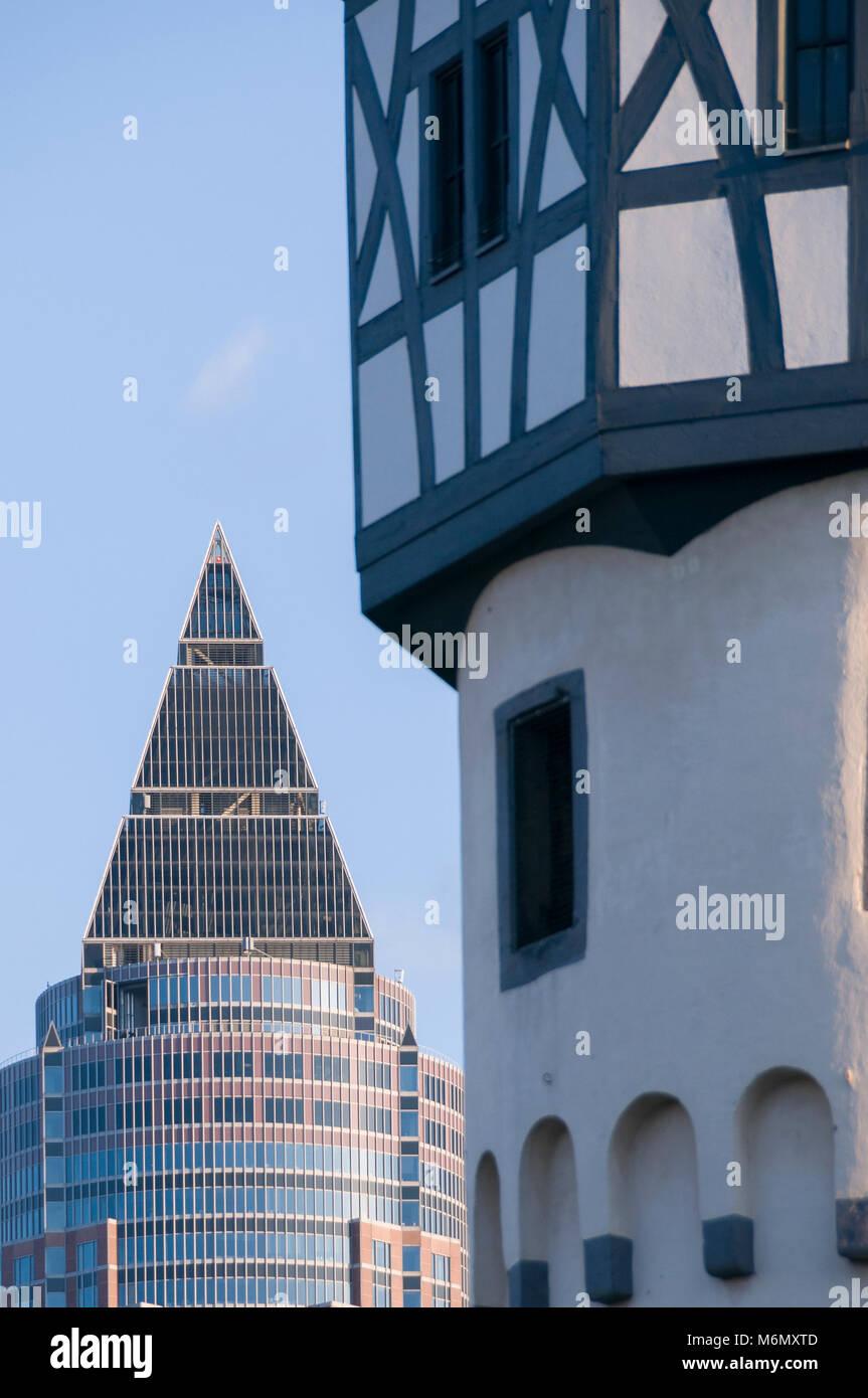 Bockenheimer Warte, Frankfurt am Main, Hessen, Deutschland, Europa Stock Photo