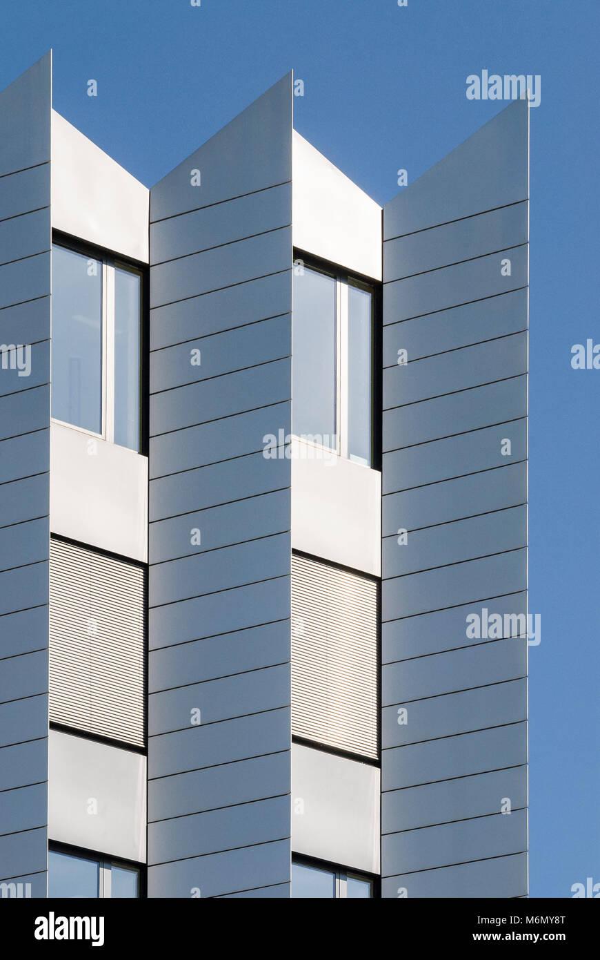 Hochhaus-Fassade, Frankfurt, Hessen, Deutschland, Europa - Stock Image