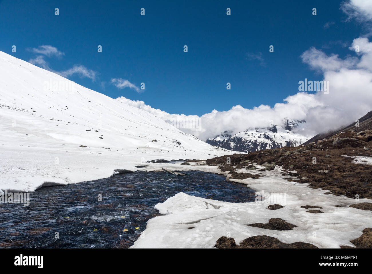 Zero Point at Sikkim in the month of may Stock Photo