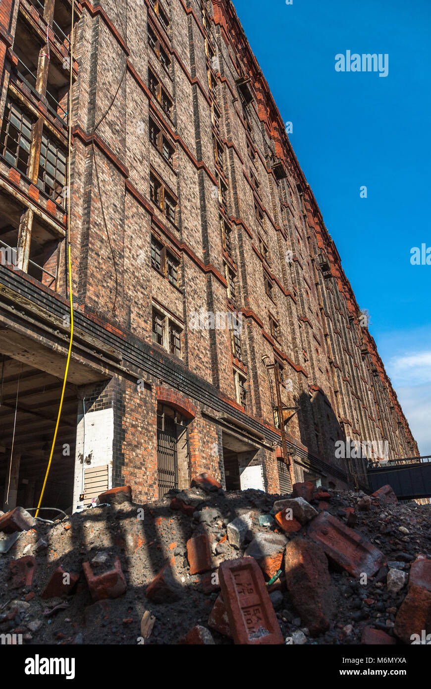The Stanley Dock Tobacco warehouse in the process of redevelopment. The Stanley Dock Tobacco Warehouse is a grade Stock Photo
