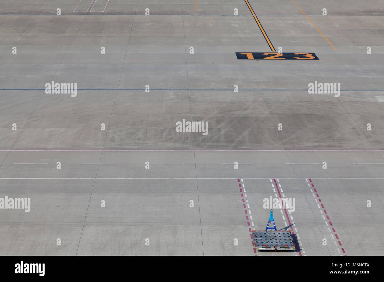 Runway and apron details at Haneda International Airport Terminal, Tokyo, Japan Thursday July 31st 2014 - Stock Image