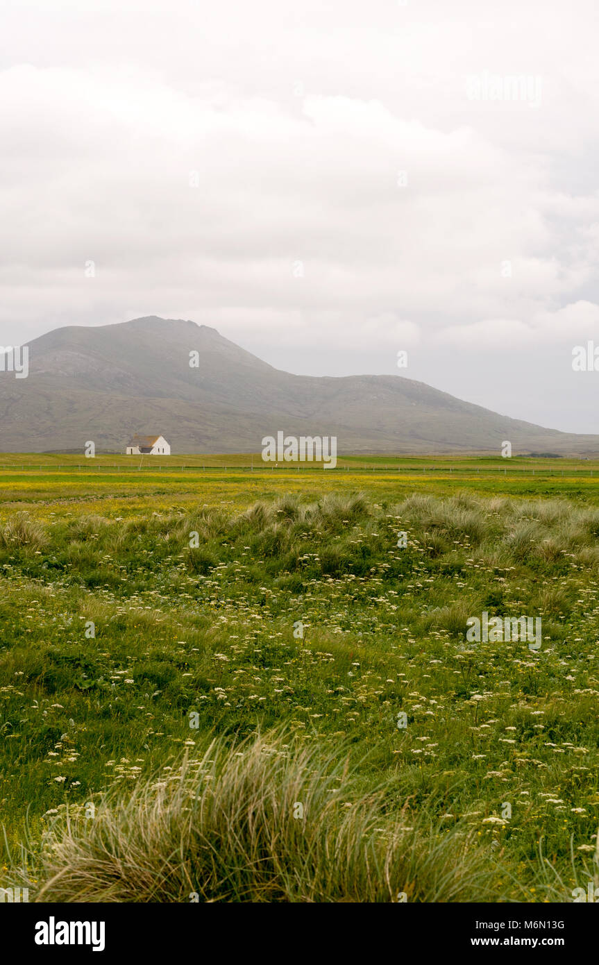 Howmore church, Church of Scotland parish church, Howmore, Isle of South Uist, Outer Hebrides, Scotland, UK - Stock Image