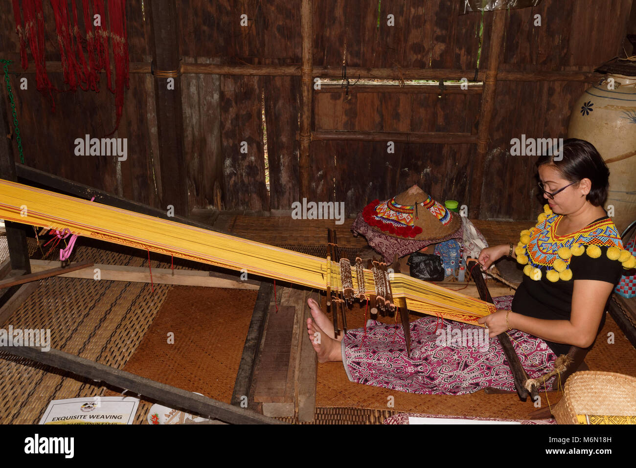 longhouse village in sarawak malaysia stock photos. Black Bedroom Furniture Sets. Home Design Ideas