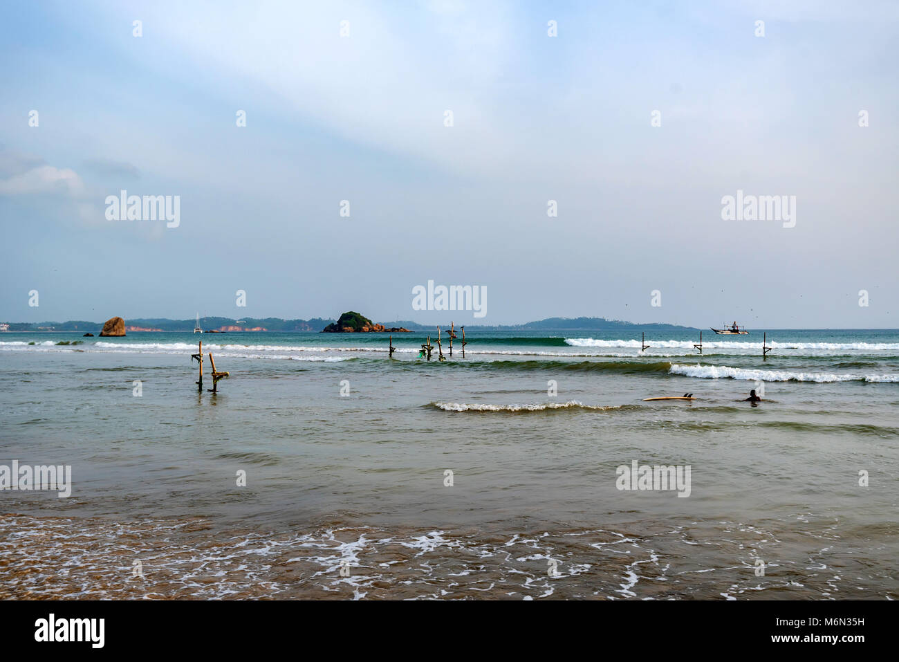 Sri Lanka coast on cloudy weather Stock Photo