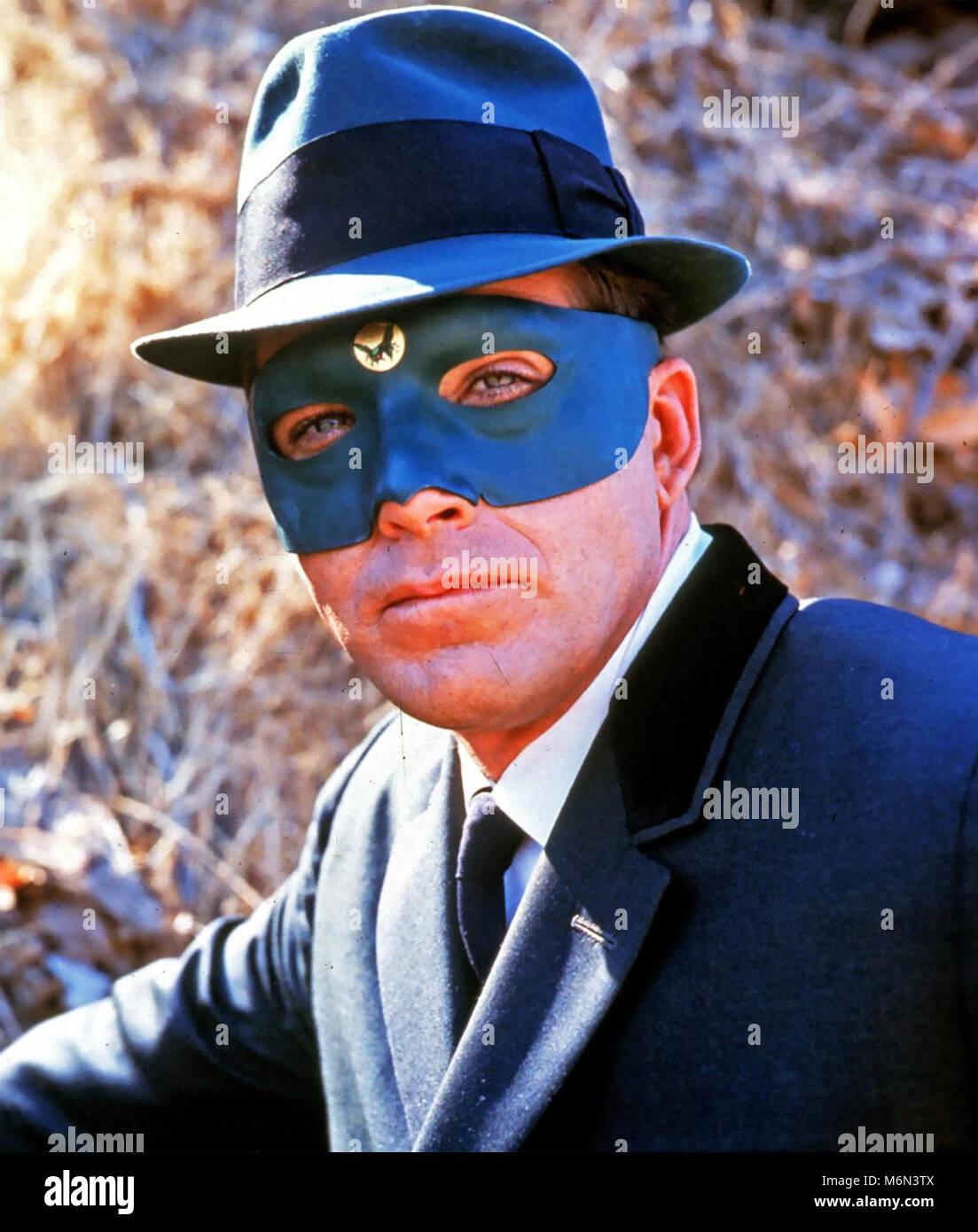 THE GREEN HORNET American ABC TV series 1966-1967 with Van Williams as the Green Hornet Britt Reid - Stock Image