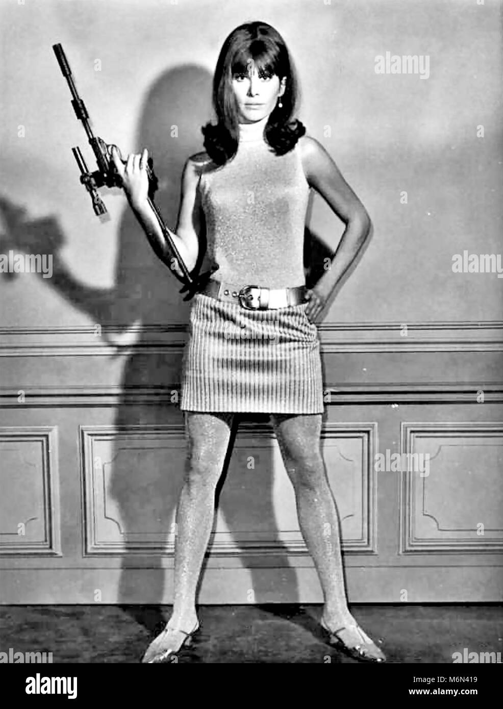 THE GIRL FROM U.N.C.L.E.  American NBC TV series 1966-1967 with Stefanie Powers Stock Photo