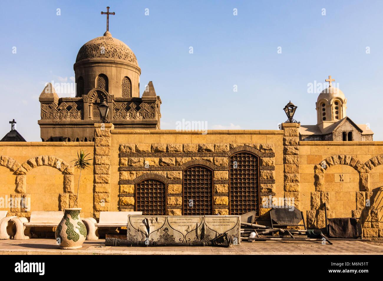 Greek Orthodox Cemetery. Coptic Cairo. Stock Photo
