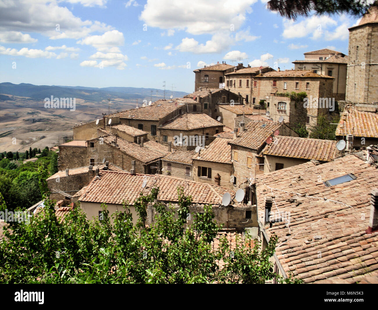 A view of Volterra - Stock Image