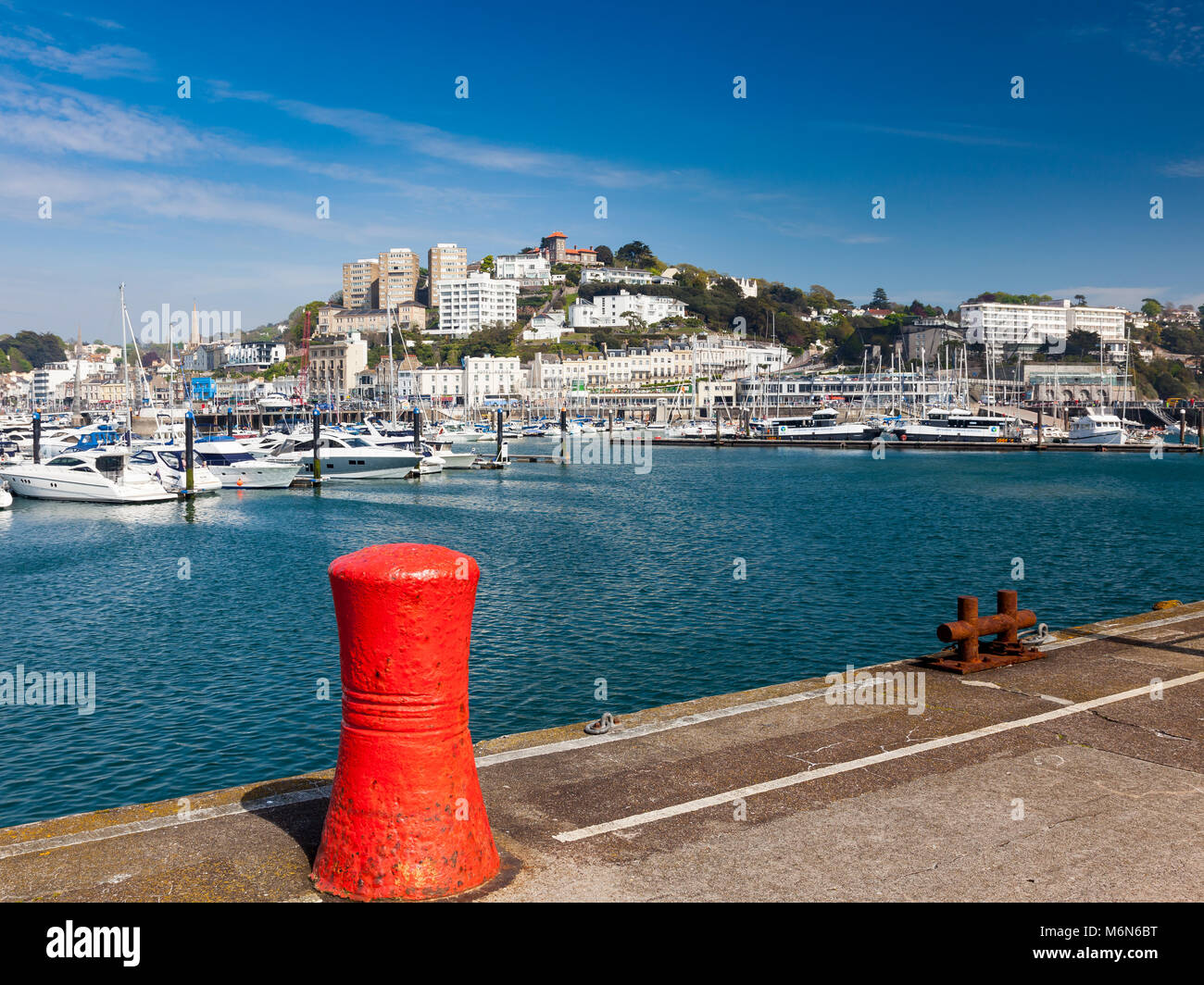 TORQUAY, UNITED KINGDOM - 7th of May 2016 - Summer at Torquay Harbour & Marina Devon England UK a popular tourist - Stock Image