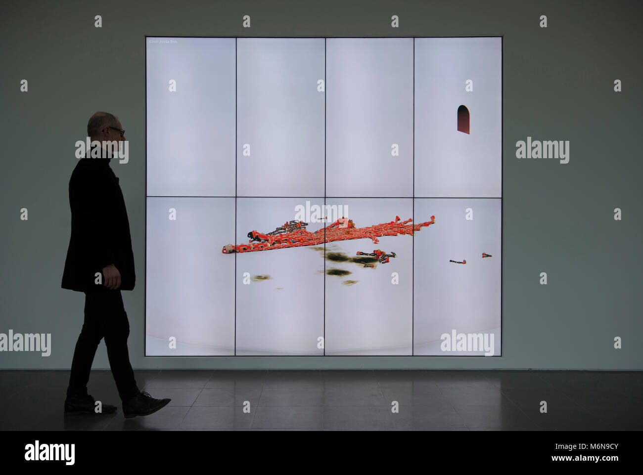 Serpentine Gallery, London, UK. 5 March 2018. Sentient artwork named BOB (Bag of Beliefs) by American artist Ian - Stock Image