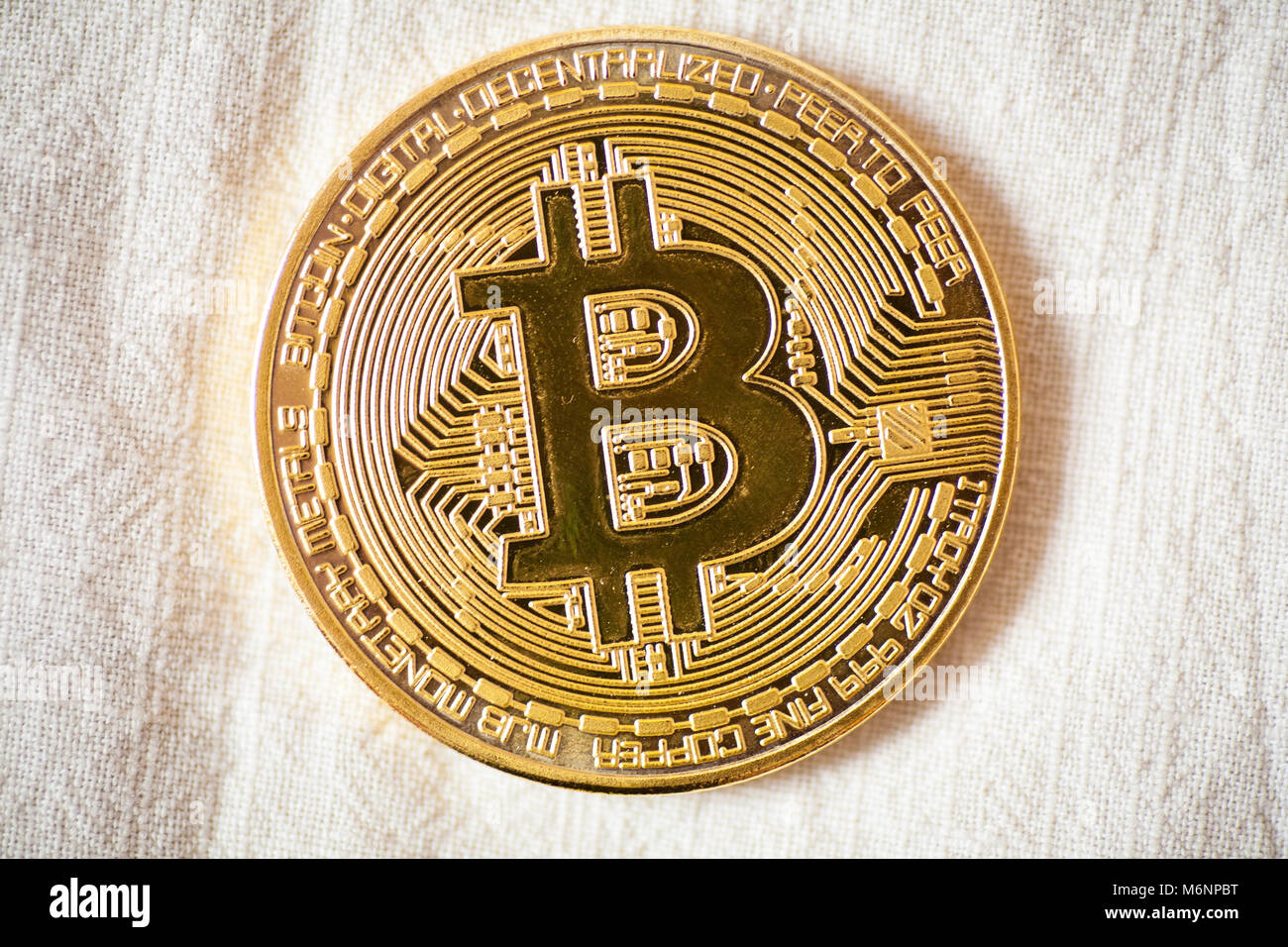 Bitcoin Logo Gold Coin Last Bitcoin Symbol Of Crypto Currency And Stock Photo Alamy