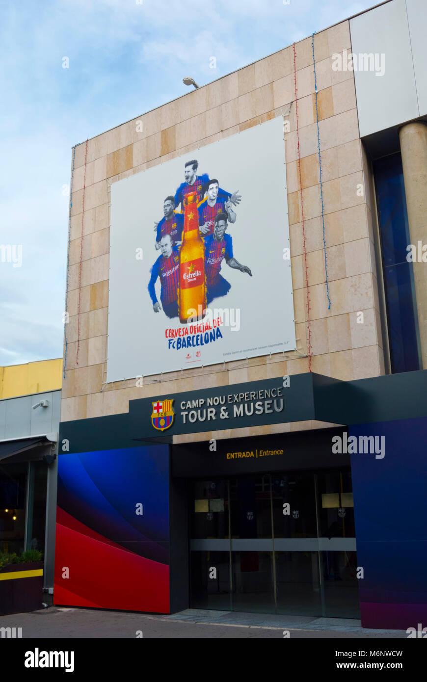 Museu FC Barcelona, Camp Nou, Barcelona, Catalonia, Spain - Stock Image