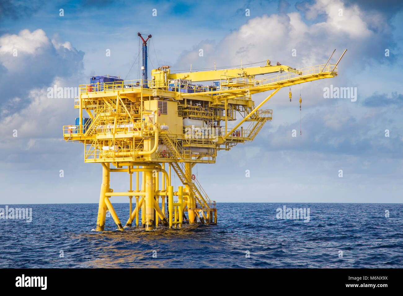 Offshore oil and gas industry, well head remote platform