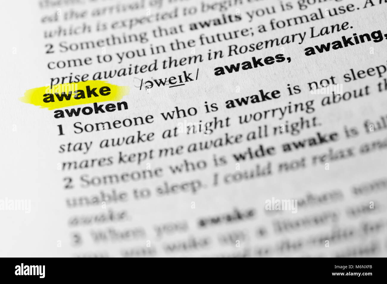 Highlighted English word