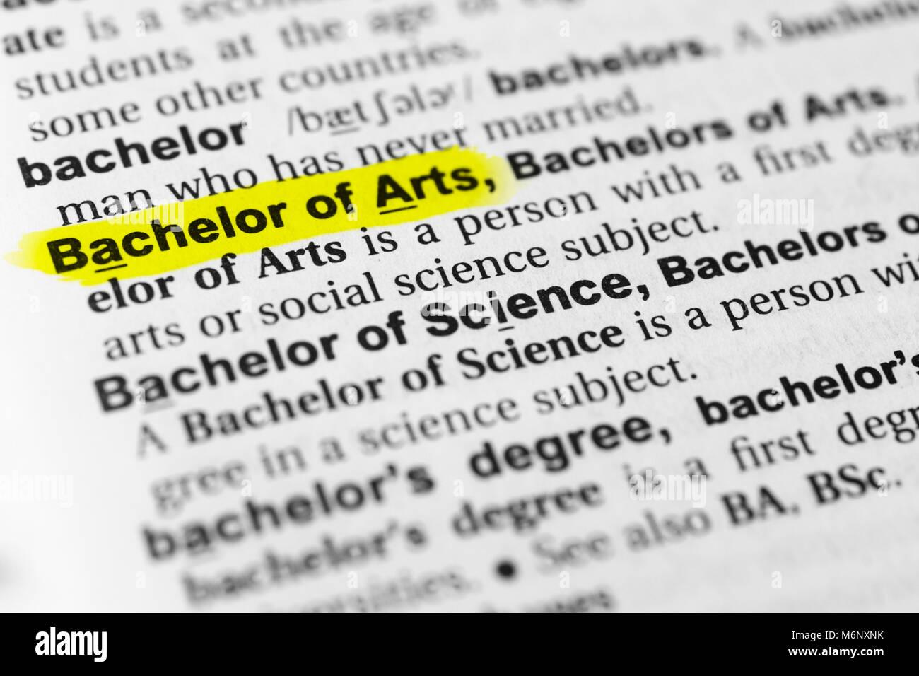 bachelor of arts stock photos & bachelor of arts stock images - alamy