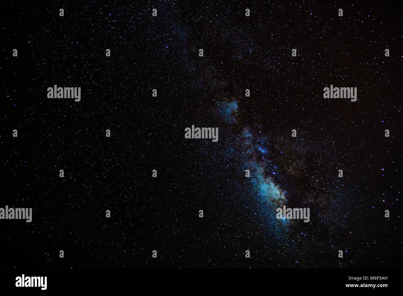Real astronomic picture taken using camera it is an open stars cluster known as praesepe - Stock Image