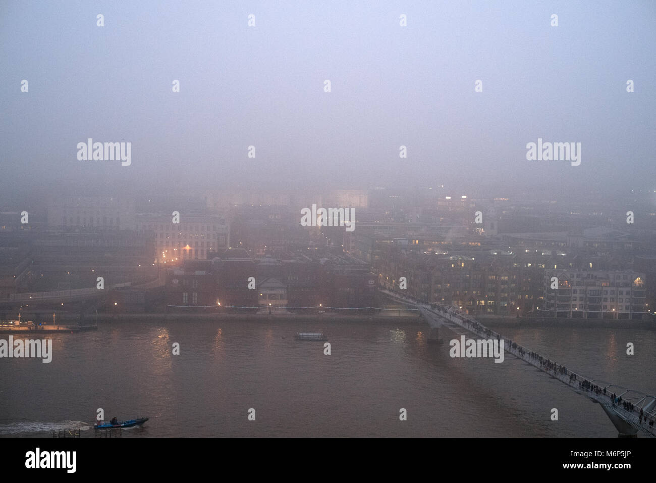 North Bank from Bankside - Stock Image