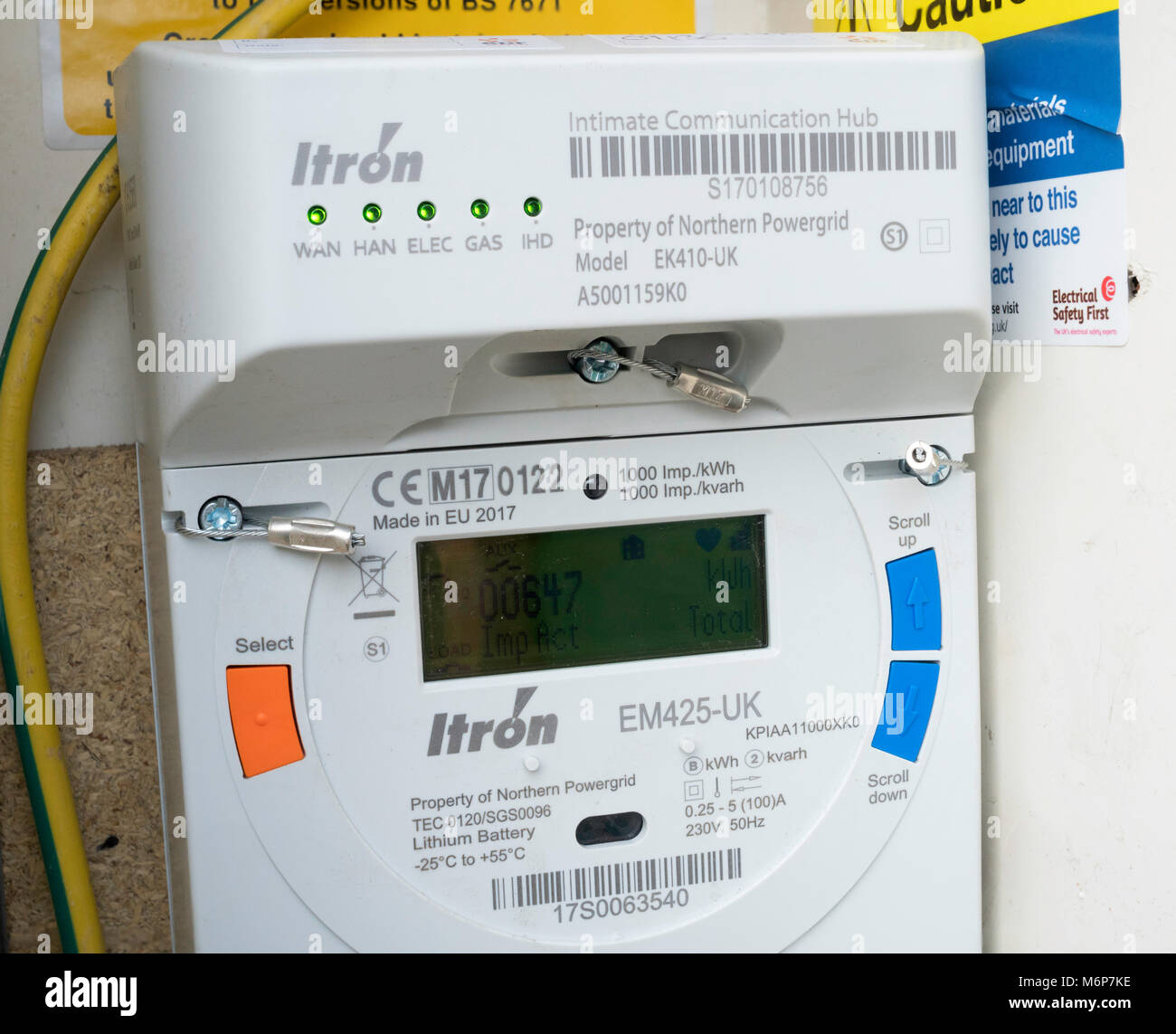 Electric Meter Technology : A northern powergrid itron smart electricity meter for edf