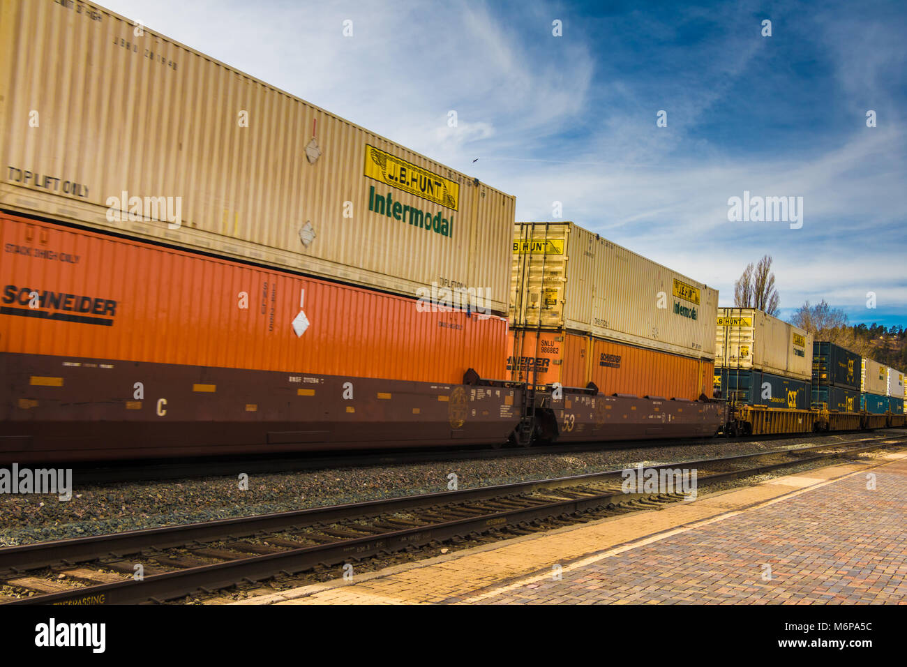 Intermodal Container Train - Stock Image