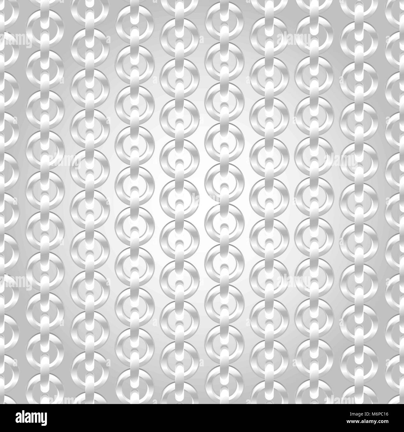 Silver chain seamless abstract pattern - Stock Image