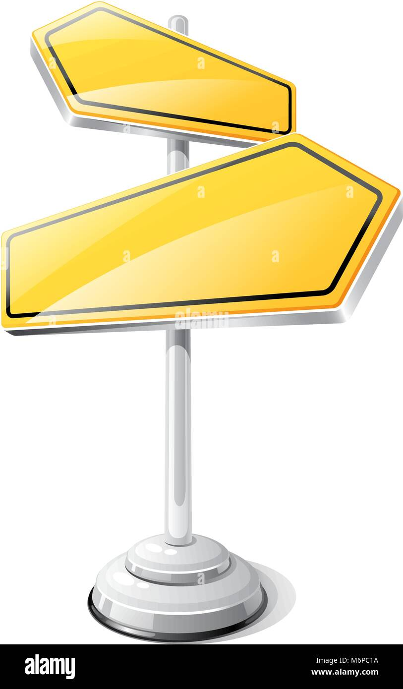 Yellow road sign isolated design template Stock Vector Art ...