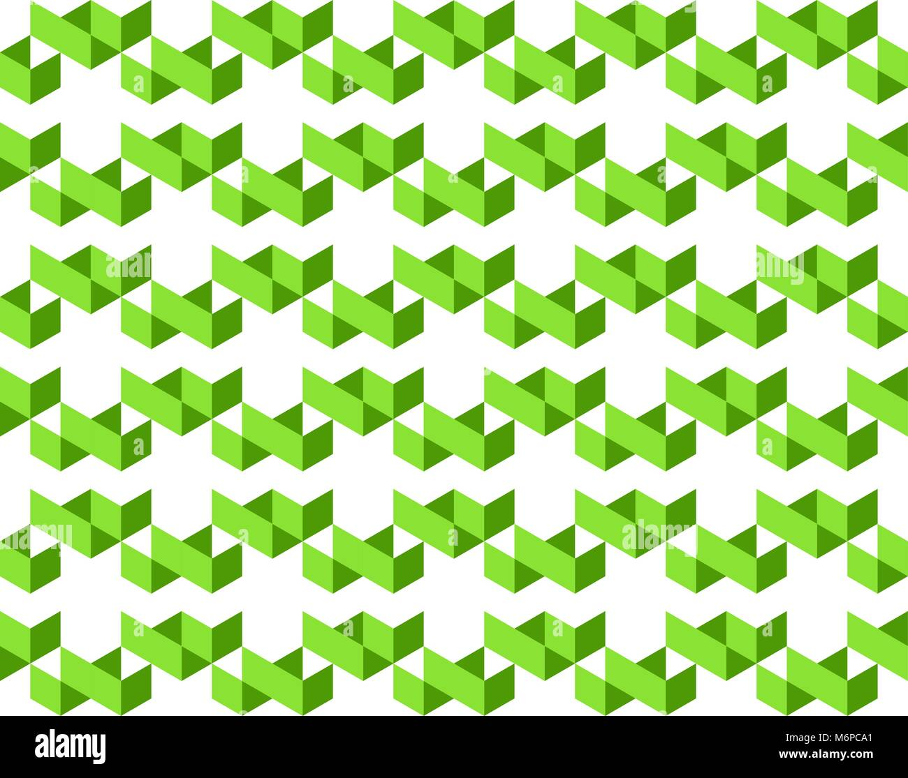 Abstract geometric pattern of 2-shades of green colors on white background - Vector illustration, EPS10. - Stock Image