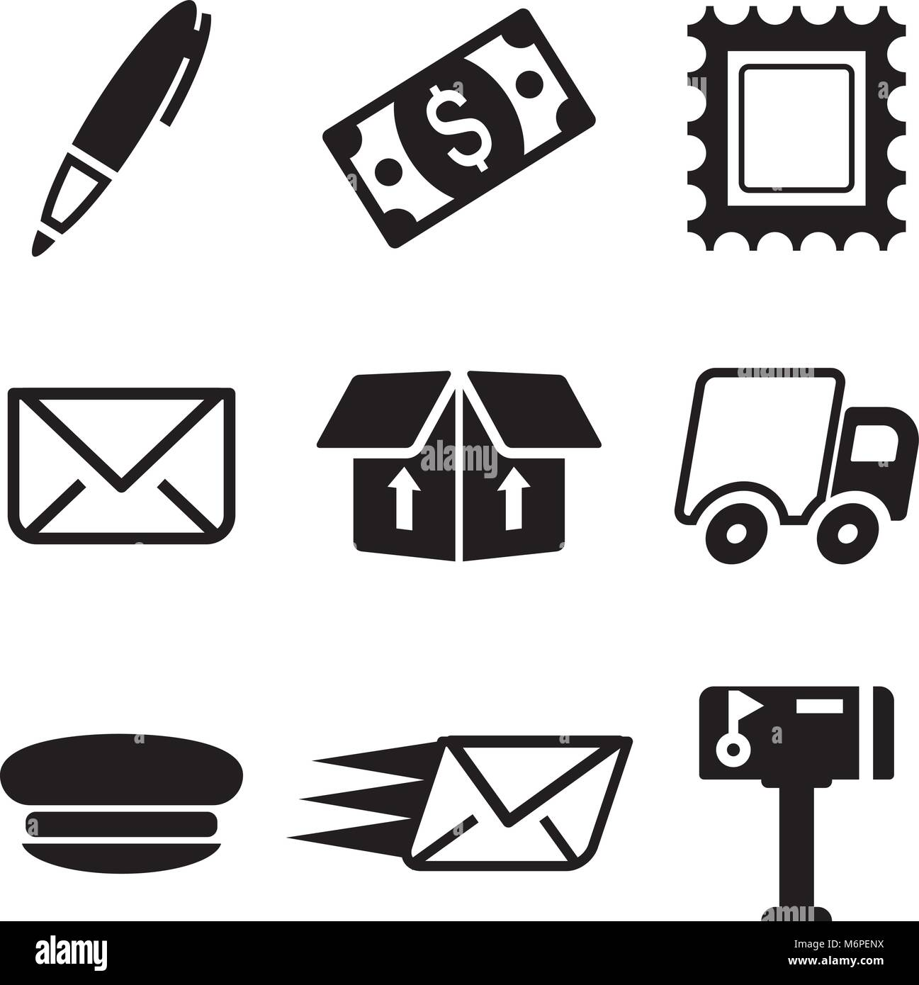 Post Office Icons - Stock Image