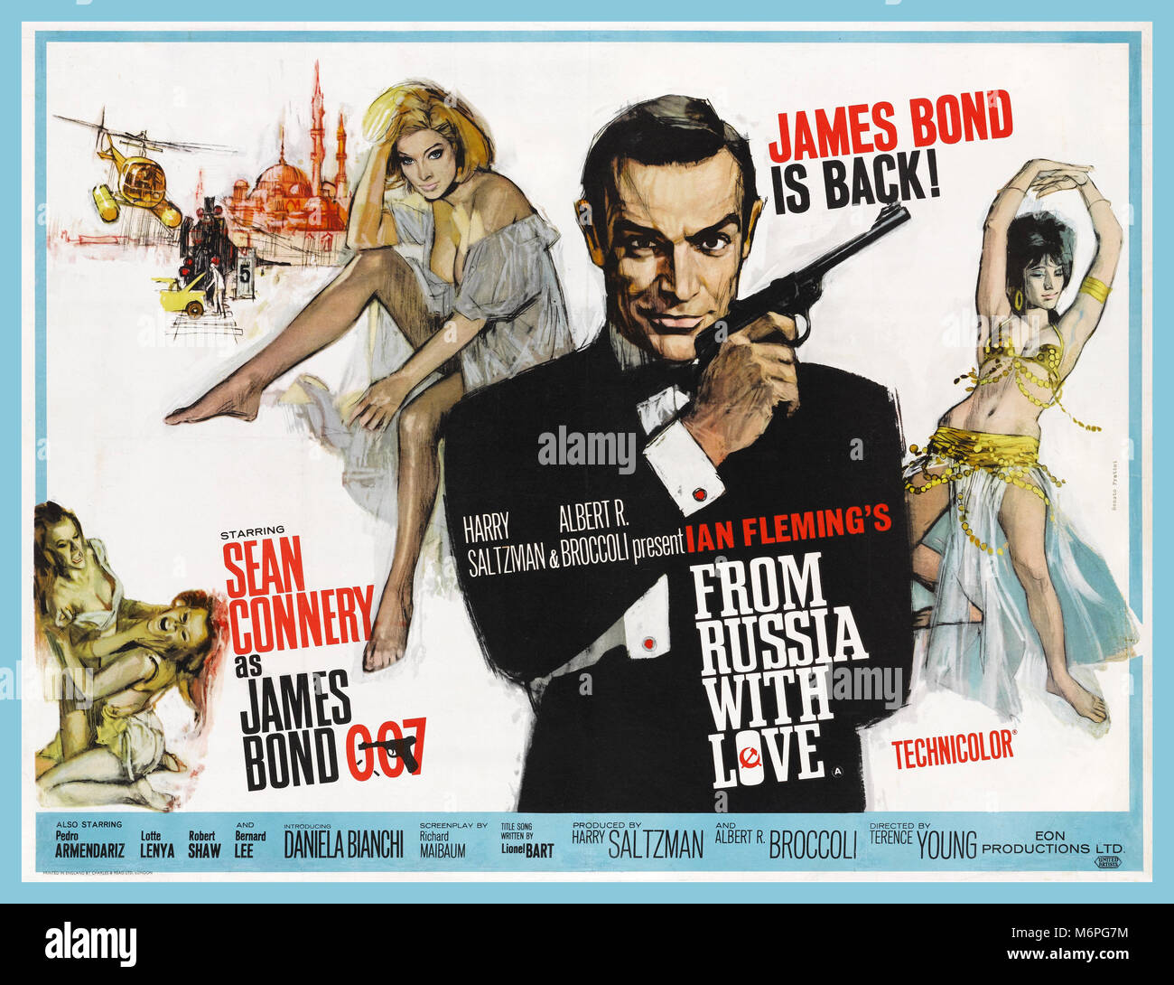 From Russia with Love a 1963 British UK James Bond spy film produced by Eon Productions, starring Sean Connery as - Stock Image