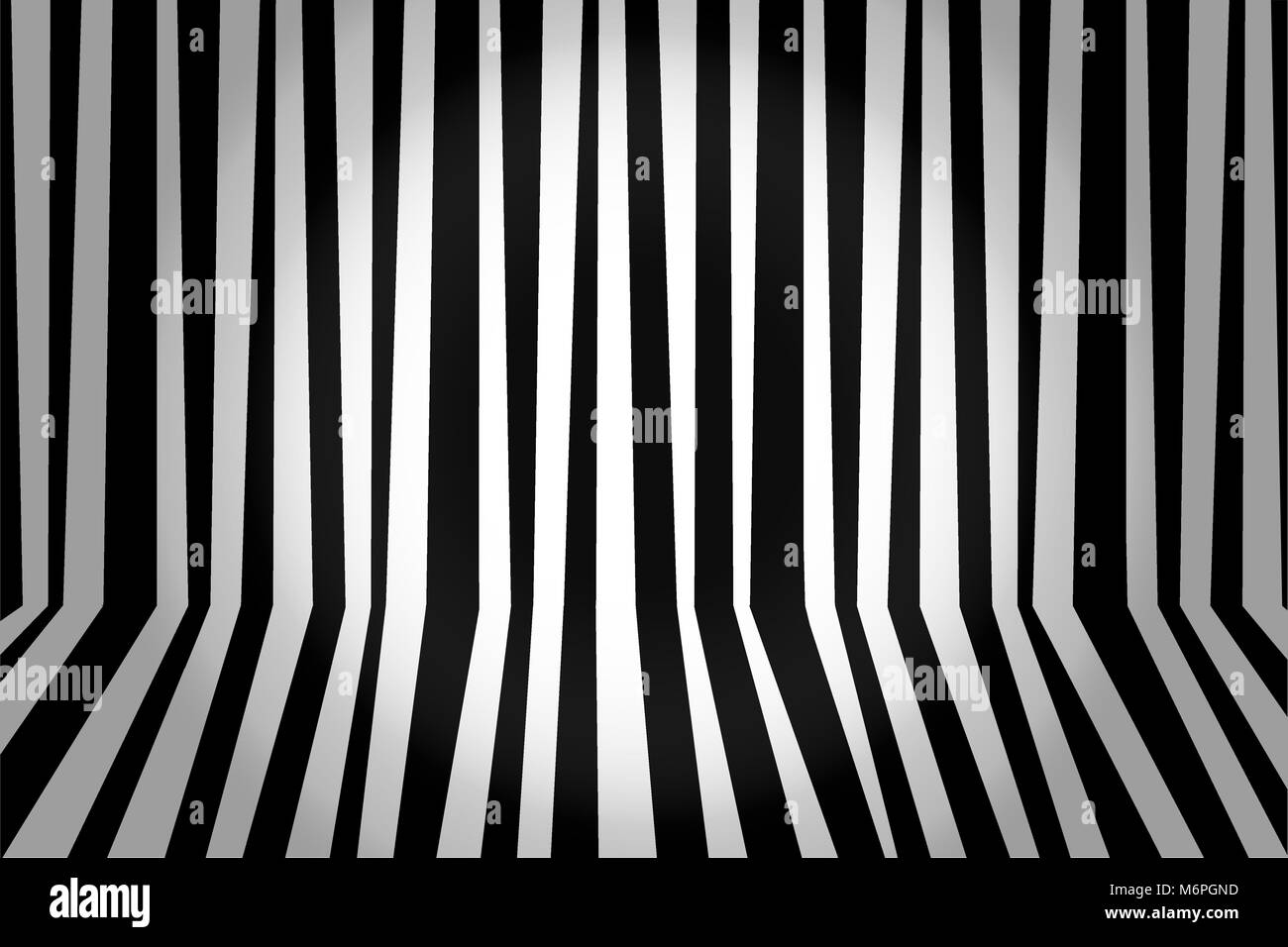 Monochrome background striped room in black and white. Vector illustration. - Stock Vector