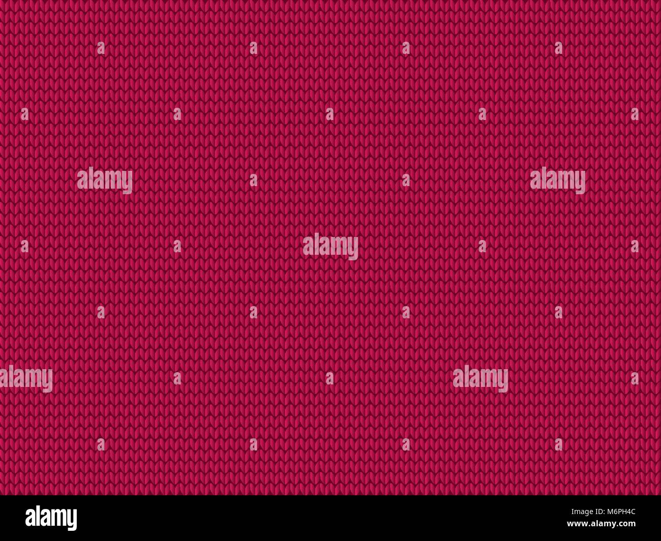 Burgundy knitted fabric background. Vector illustration, template with space for text. - Stock Vector