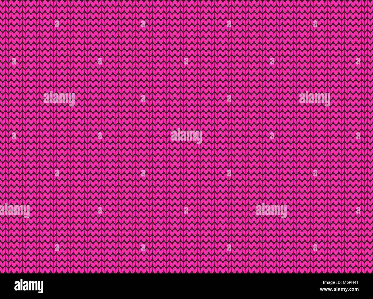 Pink knitted background. Vector template with copy space. - Stock Vector