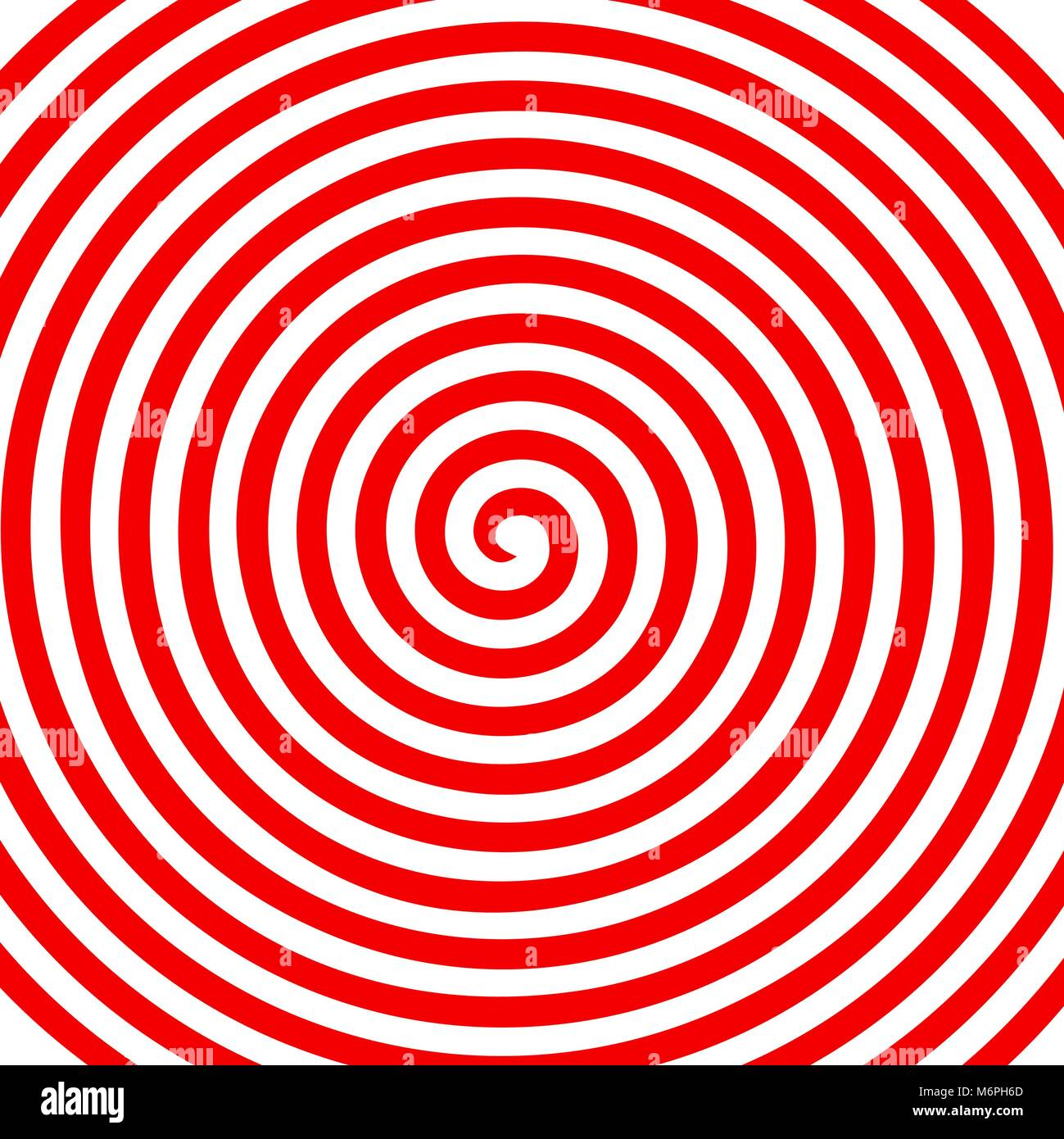 Red White Round Abstract Vortex Hypnotic Spiral Wallpaper Vector