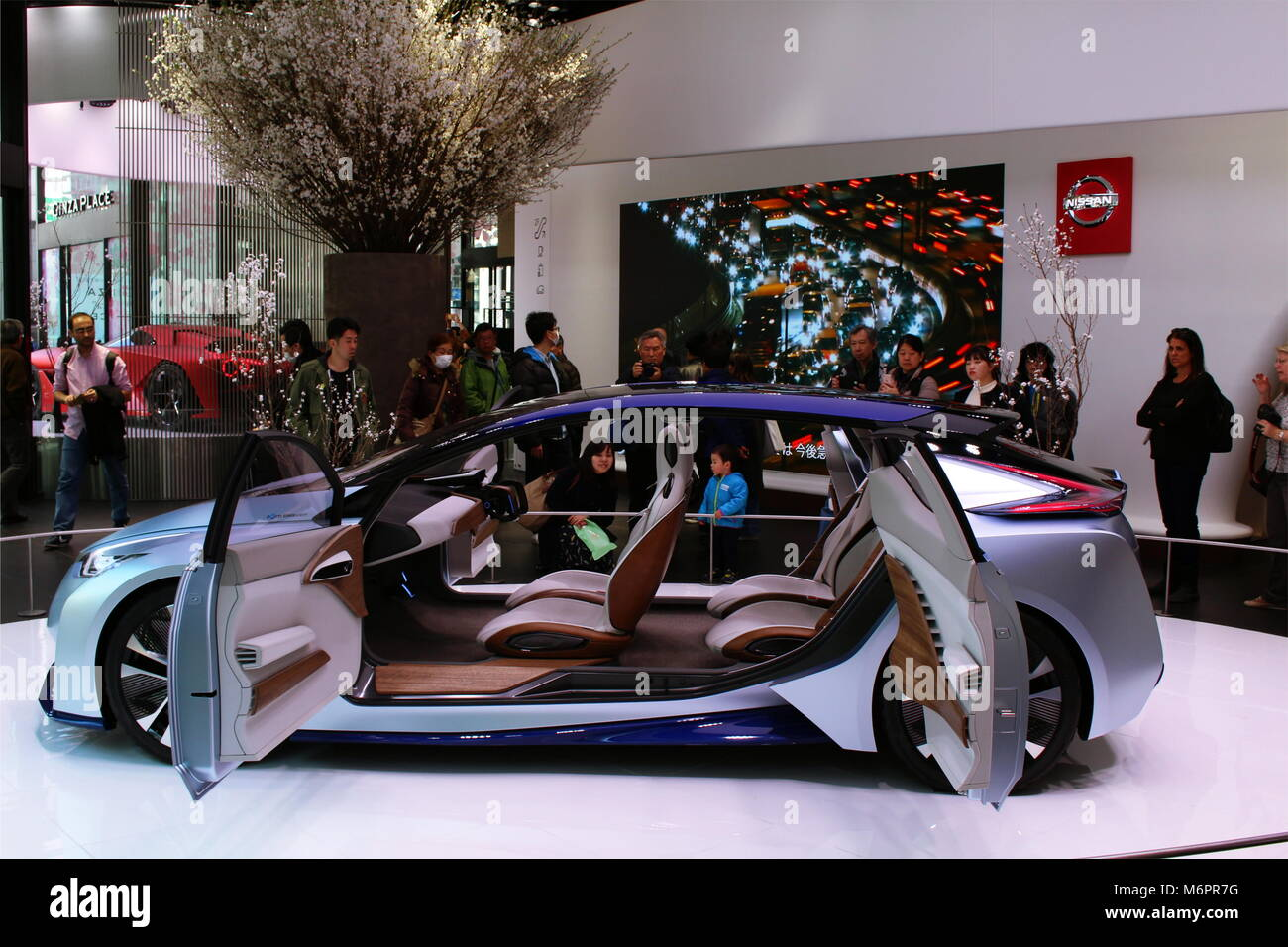 A Nissan IDS Concept on display at the Nissan Crossing showroom in Ginza Place. (March 2018) - Stock Image
