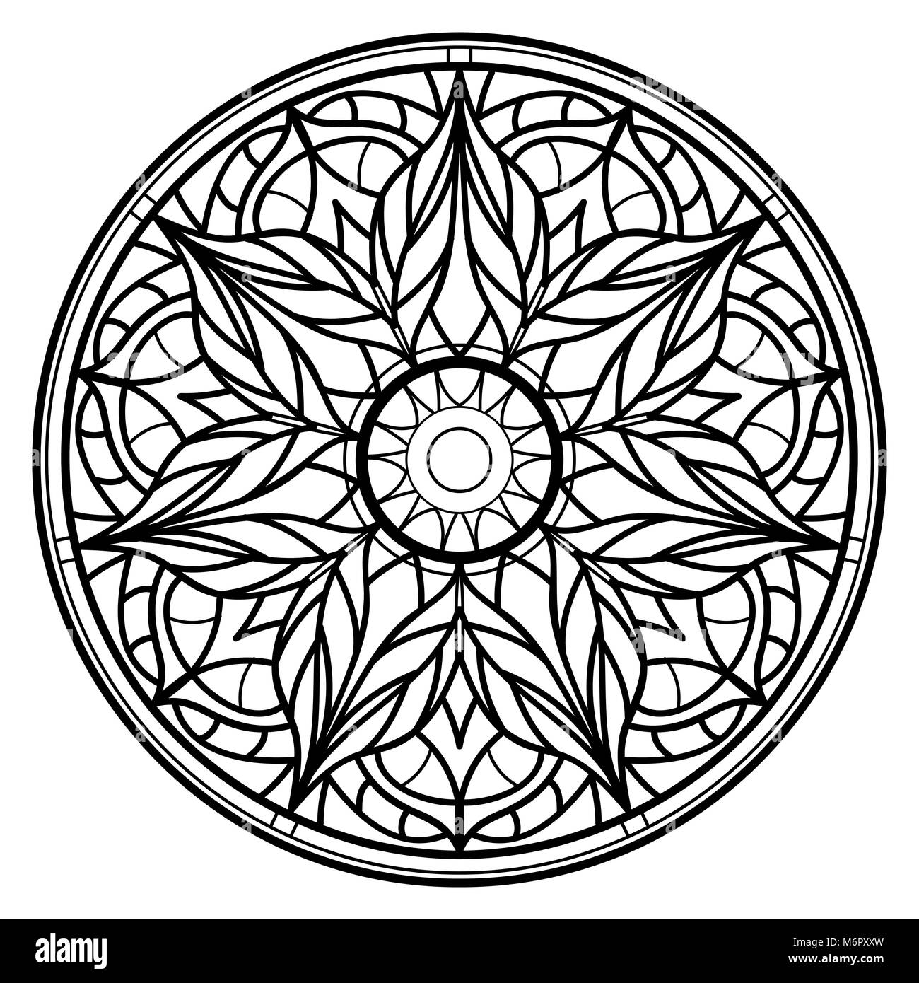 Mandalas For Coloring Book Decorative Round Ornaments Unusual Flower Shape Oriental Vector Anti Stress Therapy Patterns Weave Design Elements Yo