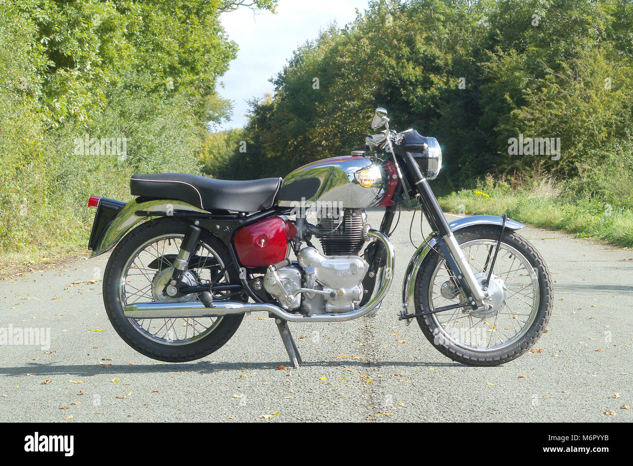 1960 Royal Enfield 700cc Constellation. - Stock Image