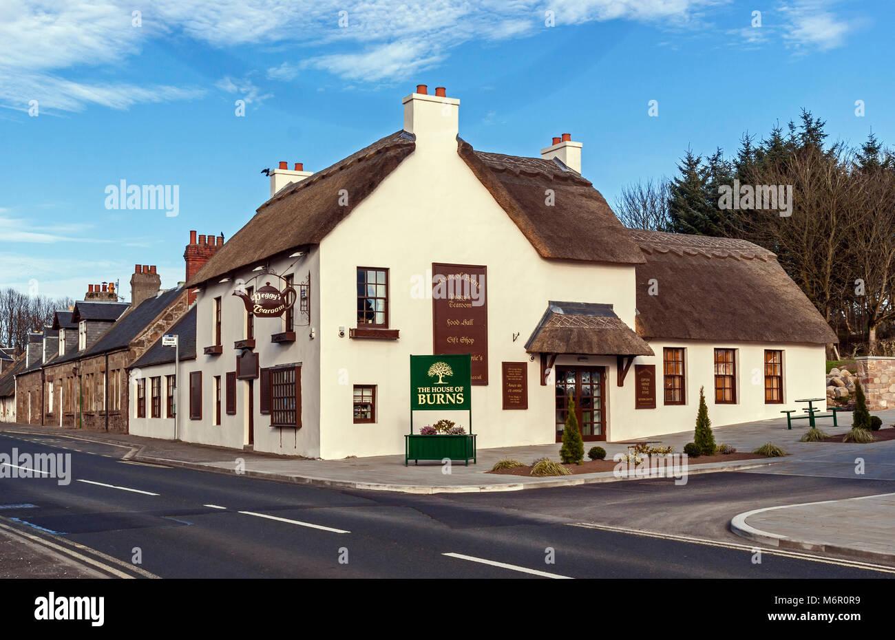 The House of Burns Peggy's tearoom in Kirkoswald Ayrshire Scotland UK - Stock Image