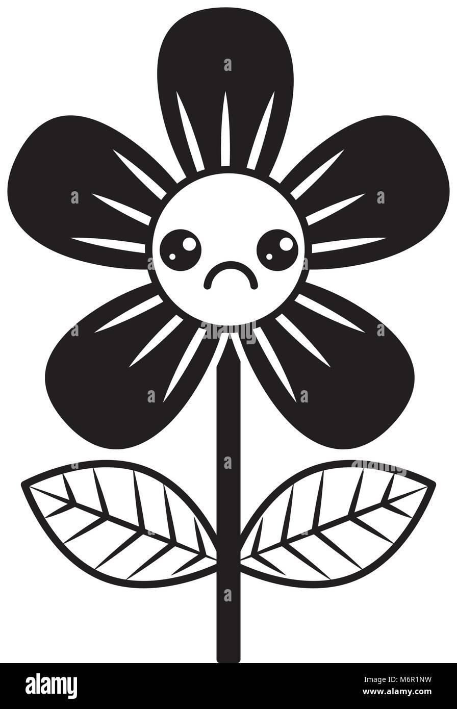 Beautiful sad flower kawaii cartoon vector illustration stock vector beautiful sad flower kawaii cartoon vector illustration izmirmasajfo