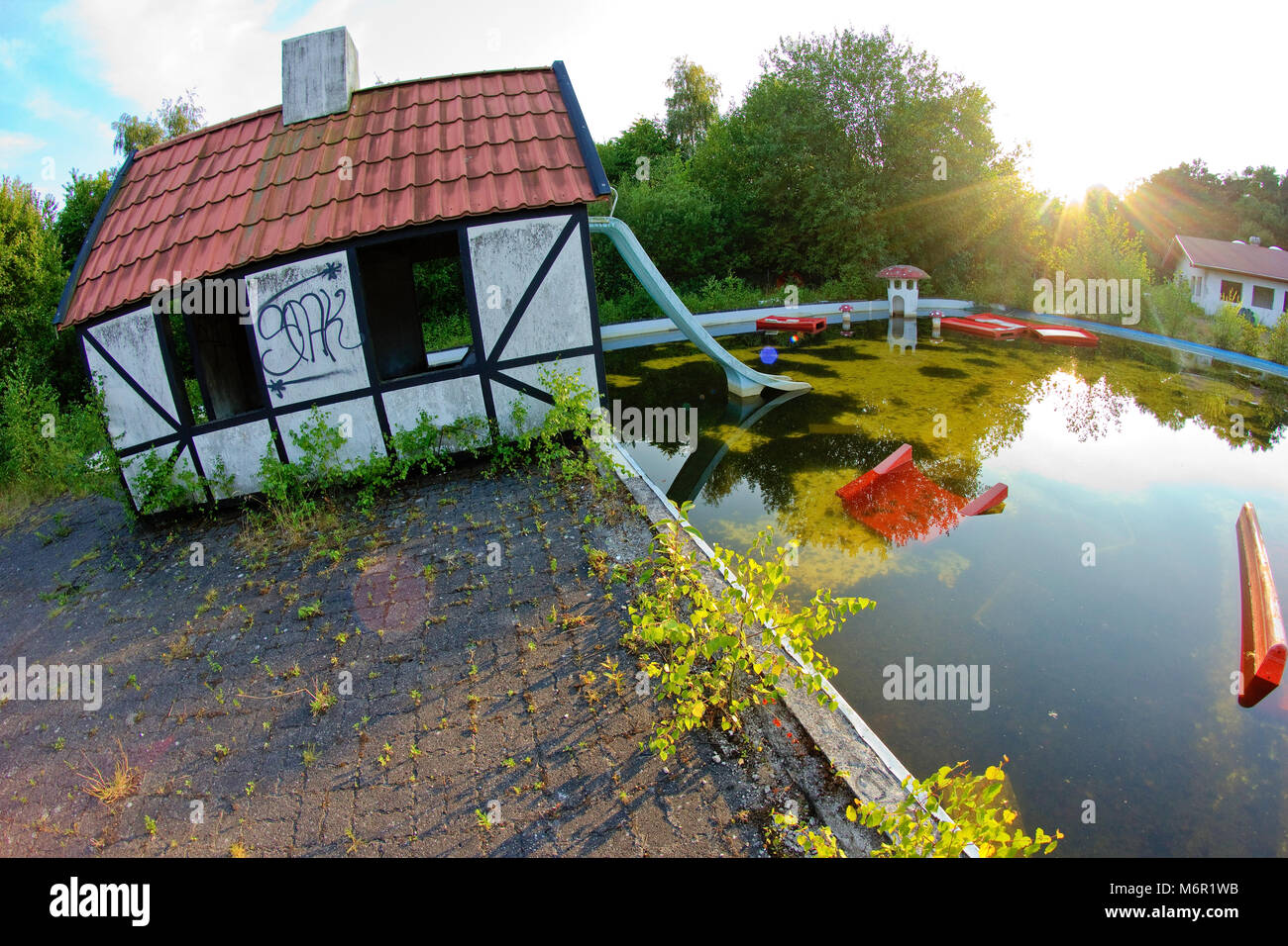 A Picture From The Fun Park Fyn In Denmark The Abandoned Fun Park Stock Photo Alamy