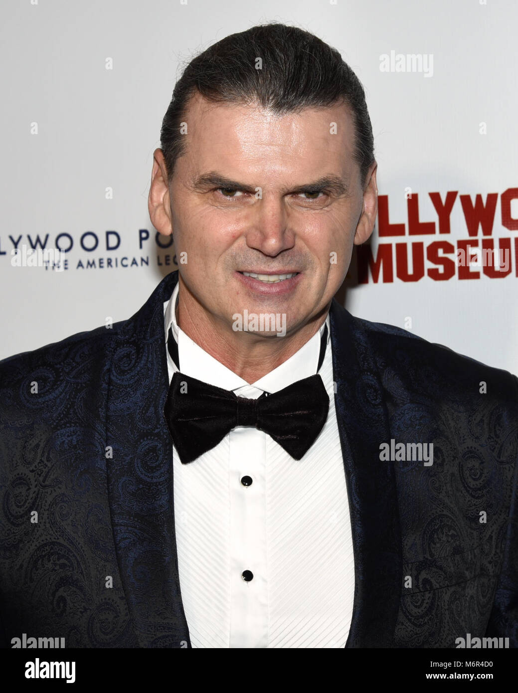 Hollywood, USA. 04th Mar, 2018. Neb Chupin attends The 3rd Annual Roger Neal Style Hollywood Oscar Viewing Black - Stock Image