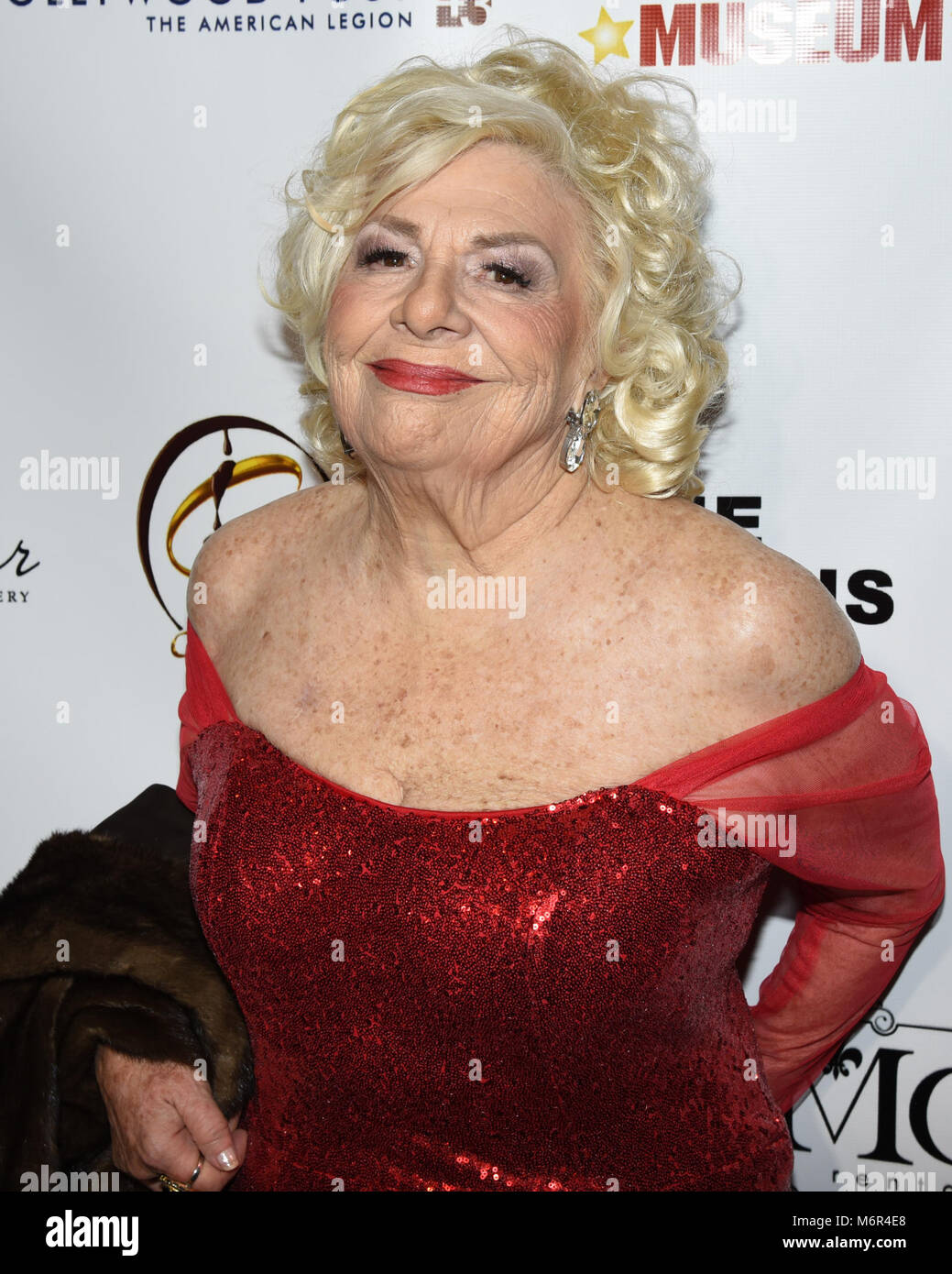 Hollywood, USA. 04th Mar, 2018. Renee Taylor attends The 3rd Annual Roger Neal Style Hollywood Oscar Viewing Black - Stock Image